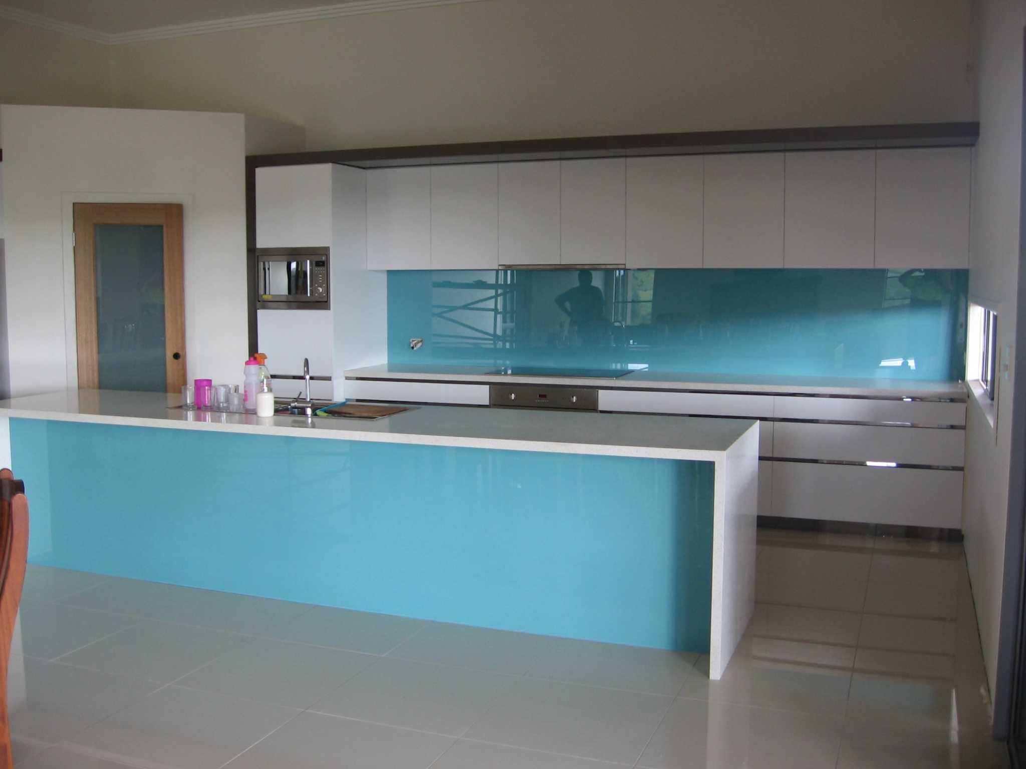 Matching Blue Splashback